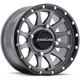 Black/Gray Raceline A95 Trophy Simulated Beadlock 15x7 Wheel - A95SG-57037+10