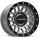 Black/Gray Raceline A93 Podium Beadlock 14x7 Wheel - A93SG-47011+10