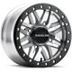 Machined Black/Gray A91MA Ryno Beadlock 14x7 Wheel - A91MA-47056+10