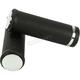 Black Grip Set with Chrome End Caps - 28-0206