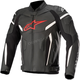 Black/Fluorescent Red GP Plus v2 Airflow Leather Jacket