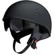 Flat Black Vagrant Half Helmet