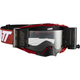 Red/White Velocity 6.5 Roll-Off Goggles w/Clear Anti-Fog Lens - 8019100053