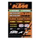 KTM Racing Decal Sheet  - 40-30-102