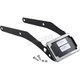 Chrome Curved License Plate Mount w/LED Lights & Slick Signal License Plate Frame - CV4653