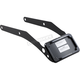 Black Curved License Plate Mount w/LED Lights - CV4663B