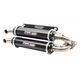 Stage 5  Dual Slip-On Muffler  - TR-4118S-BK