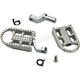 Raw Polished Mushman Stepped Driver Footpegs - 7002-302-02