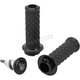 Black Alumicore Dual-Cable Grip Set - 6604-201-01