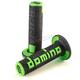 Black/Green Domino A360 Off-Road Comfort Grips - A36041C4044A70