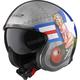 Silver/Blue/Green Spitfire Bombrider Helmet