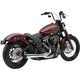 Chrome El Diablo 2-Into-1 Exhaust w/Black Tip  - 6478