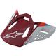 Matte Red Supertech M8 Contact Visor - 89812193000SM