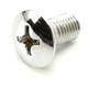 Oval Head Slotted Chrome Screw - 37-2096