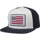 Youth White Patriot Mesh Snapback Hat - 23008-008-OS