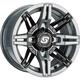 Gray/Black Front/Rear Rukus Limited Edition 14x7 Wheel - A83SG-B-47011-52S