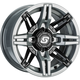Gray/Black Front/Rear Rukus Limited Edition 14x7 Wheel - A83SG-B-47056-61S