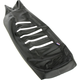 Black/White Gripper Ribbed Seat Cover - 0821-2899