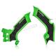 Green/Black X-Grip Frame Guards - 2742601089