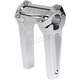 Chrome 6 in. Straight Risers w/o Gauge Cutout  - TSC-6000-3