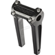 Anodized Black 8 in. Straight Risers w/o Gauge Cutout - TSC-8000-1