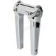 Chrome 8 in. Straight Risers w/o Gauge Cutout - TSC-8000-3