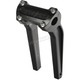 Anodized Black 9.5 in. Straight Risers w/o Gauge Cutout - TSC-9525-1