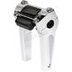 Chrome 6 in. Straight Risers w/ Gauge Cutout  - TSC-6025-3