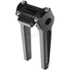 Anodized Black 8 in. Pullback Risers with Gauge Cutout - TSC-8025-1