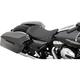 Black Low Profile Double Diamond Stitch Solo Seat w/Silver Thread - 0801-1153