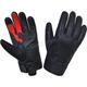 Men's Black Leather Gloves w/Red Aramid Fibers