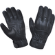 Men's Black Leather Gloves w/Aramid Fibers