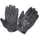Men's Black Knuckle Armor Cowhide Leather Gloves