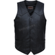 Men's Black Premium Cowhide Leather Conceal And Carry Vest