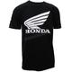 Black Honda Sponsor Wing T-Shirt