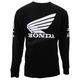 Black Honda Sponsor Wing Long Sleeve T-Shirt