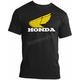 Heather Black Honda Gold Retro Wing T-Shirt
