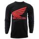 Charcoal Honda Basic Wing Long Sleeve T-Shirt