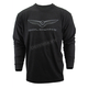 Heather Graphite Goldwing Long Sleeve T-Shirt