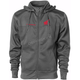 Charcoal Honda Poly-Tech Zip Hooded Sweatshirt