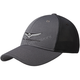 Charcoal/Black Goldwing Embroidered Mesh Hat