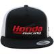 Black/White Honda Racing Two-Tone Mesh Snapback Hat - HL-768-0-BLK/WHT