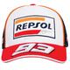 White/Red/Black Marc Marquez Repsol Trucker Snapback Hat - MI-1848502