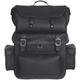 Black 2-piece Leather Sissy Bar Bag - 2996.00