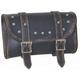 Black/Antique Brown Cowhide Leather Tool Bag - 9664.ABR