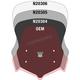 Dark Gray 18.5 in. VSTREAM Sport Lexan Polycarbonate Windshield - N20304