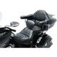 Black Diamond Stitched Passenger Backrest/Armrest w/White Thread - 76022WT