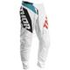 White/Aqua Sector Blade Pants