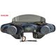Black 2-Speaker Batwing Fairing - 18+DLX65