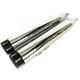 Chrome 4.5 in. Slip-On Mufflers w/Black Tear Drop Tips - 97135